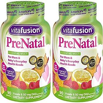 Vitafusion PreNatal Adult Gummies Assorted Flavors - 90 gummies Pack of 2