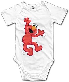 WlQshop Muppet Elmo Babybody für Neugeborene, Rot