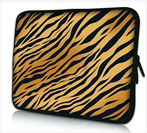 'Maletín Funda Portátil portátil 15'–15.6pulgadas Caso neopreno para portátiles Dell HP MacBook Samsung Apple Toshiba * Panther stripers *