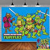 Teenage Mutant Ninja Turtle Backdrop Party Supplies Poster for Kids Birthday Mikey Raphael Theme Party Banner Baby Shower Photography Background Photo Booth Props