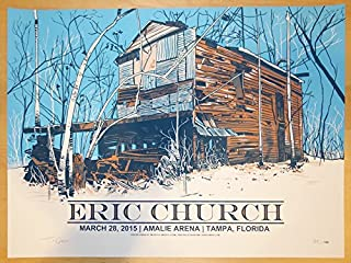 2015 Eric Church - Tampa Silkscreen Concert Poster by Tim Doyle