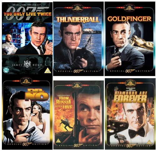 The Complete Sean Connery James Bond DVD Movie Collection: Dr No / From Russia With Love / Goldfinger / Thunderball / You Only