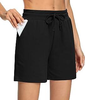 Sarin Mathews Womens Yoga Shorts Casual Loose Comfy Drawstring Lounge Pajamas Running Workout Shorts with Pockets