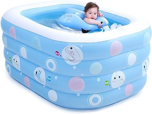 LZTET Baby Aufblasbare Schwimmbad Quadratische Badewanne Isoliert Verdickt Baden Pool Baby Ozean Ball Pool Sand Pool Soaming Mather Pool,ElectricpumpHH