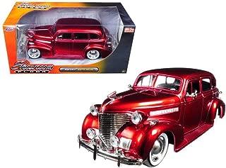 Jada 98881 1939 Chevrolet Master Deluxe Red with baby Moon Wheels Showroom Floor 1/24 Diecast Model Car