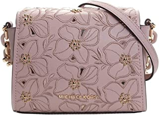 Michael Kors Sofia Small Leather Perforated Floral Studded Crossbody Purse