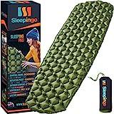 green sleeping pad for camping