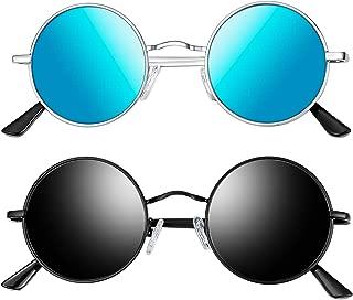 Joopin-Round Retro Polaroid anteojos de sol para conducción, anteojos polarizadas para hombre Steampunk
