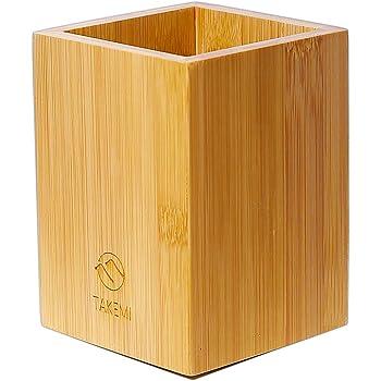 【天然素材】TAKEMI 竹製 ペン立て ペンスタンド カラトリースタンド 筆立て 箸立て 卓上収納 TM-PH1