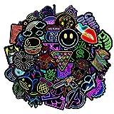 Jackify Adesivi Pack, Neon Stickers Vinili per Computer Portatile, Bottiglie d'Acqua, Bagagli, Skateboard, Auto, Moto, Biciclette, Valigia, Adesivi paraurti Decals Bomba