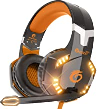 G2000 Stereo Gaming Headset for Xbox one PS4 PC, Surround Sound Over-Ear Headphones with Noise Cancelling Mic, LED Lights,...