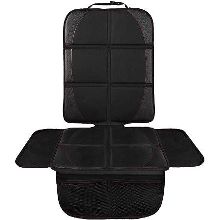 NWOUIIAY チャイルドシートマット シートカバー 防水 シートプロテクター 保護マット 滑り止め 車座席保護 収納ポケット付き 取り付け簡単