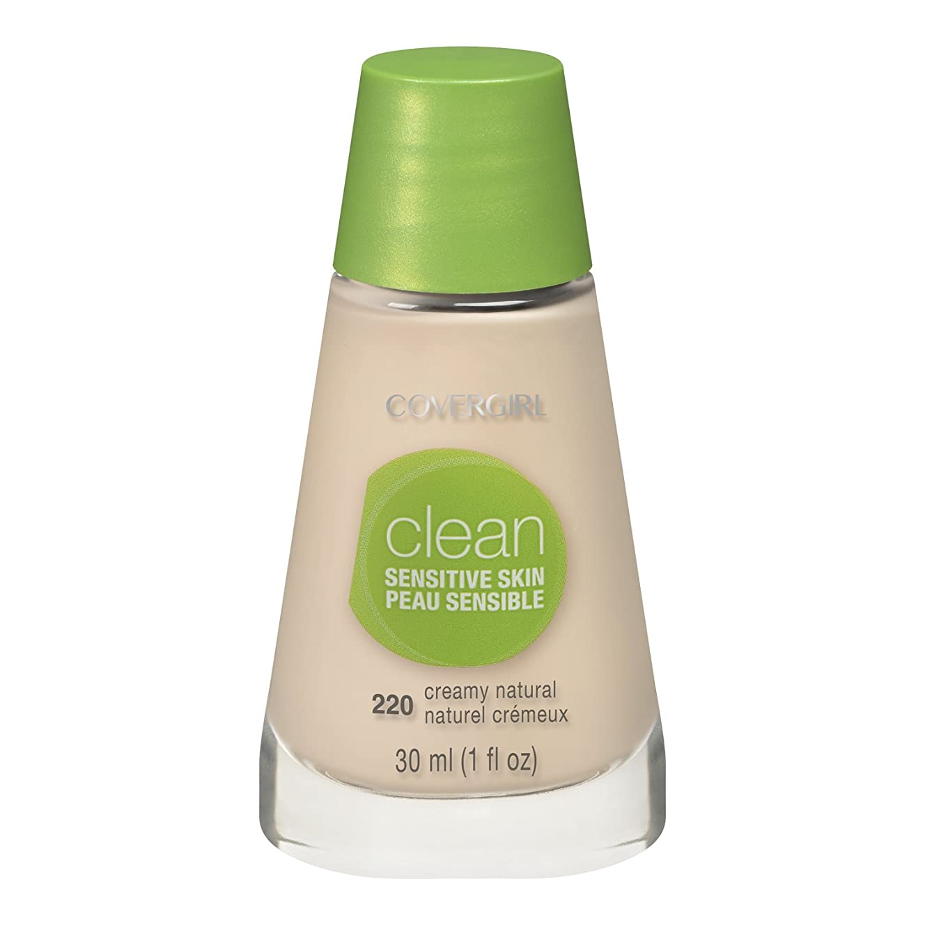 有効化課税現実的COVERGIRL CLEAN SENSITIVE SKIN MAKEUP #220 CREAMY NATURAL