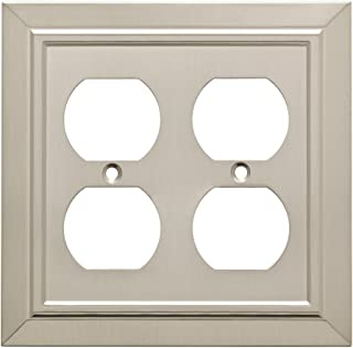 Franklin Brass W35223-SN-C Classic Architecture Double Duplex Outlet Wall Plate/Switch Plate/Cover, Satin Nickel