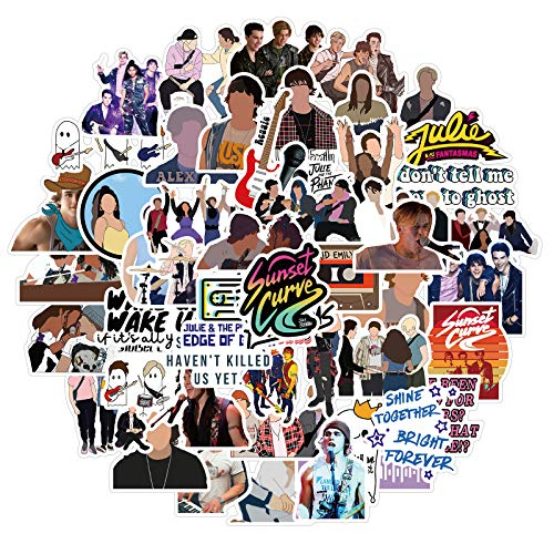 Musical TV Stickers for Water Bottle 50PCS , Waterproof Vinyl Decal for Laptop, Skateboard, Phone, Bike, Luggage, Computer, Travel Case, Guitar (Julie and The Phantoms)