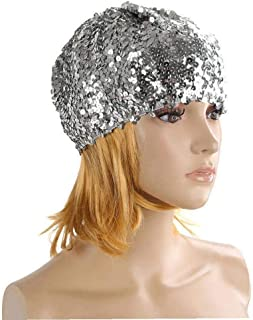 AMOYER 1pc Cappello Paillettes Luccicanti Costume Jazz Glitter Danza Beret Protezione Rotonda Signore Accessori Brillante ...