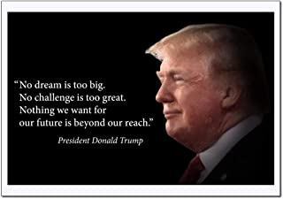 Donald Trump Poster Motivational Quote (No dream is too big. No Challenge is too great. Nothing we want…) Young N Refined - (16x20)