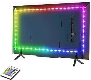 Iluminación de fondo LED para TV, barra de luz LED de 2,56 a 60 pulgadas, soporte de pared para televisor inteligente