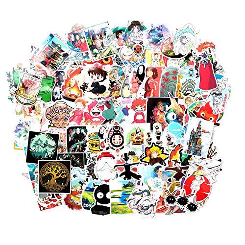 XXCKA 100 Piezas de Hayao Miyazaki Serie de Anime mi Vecino Totoro sin Rostro Hombre Graffiti Pegatinas Trolley Maleta Guitarra