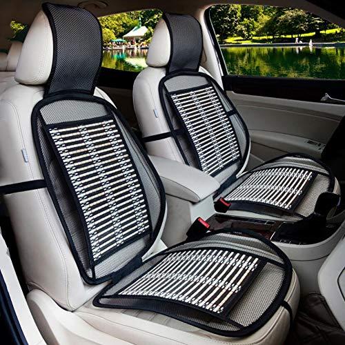 FENG Sommer Bambus Stück Auto Sitzbezug - Bequem Massage Premium Holzperlen Rückenlehne,mit hohem Belüftung Universaltyp Auto Autositz/2 Stück (3 Stil),C