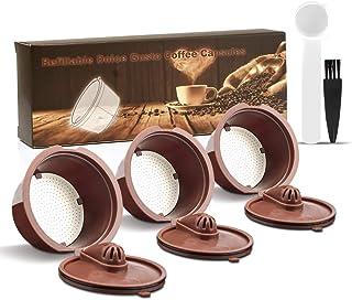i Cafilas Dolce Gusto Lot de 3 capsules de café réutilisables en acier inoxydable pour Dolce Gusto