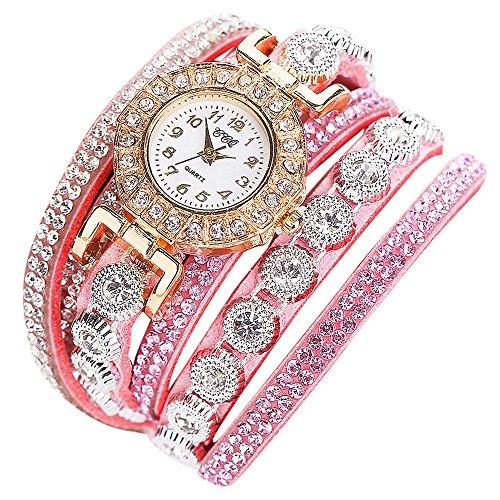 CCQ Moda Mujer Reloj analógico de Cuarzo analógico Casual para Mujer Reloj de Pulsera (Rosado)