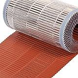 Bajo-Cumbrera Aluminio 400 mm x 5 ml, color rojo