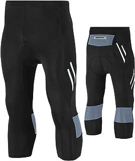 Legendfit Men's Cycling Tights 4D Padded Capri Bike Pants Hidden Pocket UPF 50+