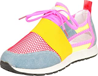 Cambridge Select Women's Low Top Lightweight Knit Mesh Side Cutout Lace-Up Fashion Sneaker