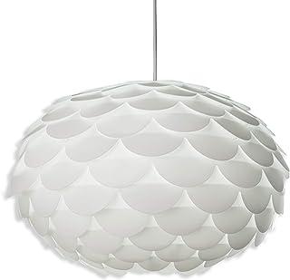 B.K.Licht Lámpara de puzzle colgante DIY máx. 60 W Ø 460 mm, Color blanco, lampara de techo con diseño de flor, E27, 230V, IP20