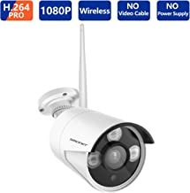 SMONET H.265 1080P Outdoor Indoor Security Camera with 4mm Lens High Resolution IR Cut 65Ft Night Vision,3pcs Array LED Li...