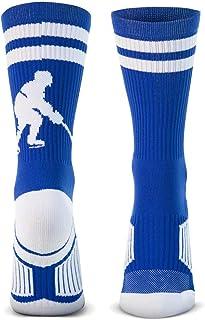 ChalkTalkSPORTS Hockey Half Cushioned Crew Socks | Hockey Player | Multiple Colors
