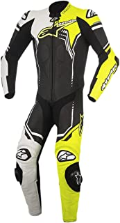 Alpinestars GP Plus V2 Leather Suit, Distinct Name: Black/White/Yellow Fluo, Gender: Mens/Unisex, Primary Color: Black, Size: 40, Apparel Material: Leather, EURO Size: 50