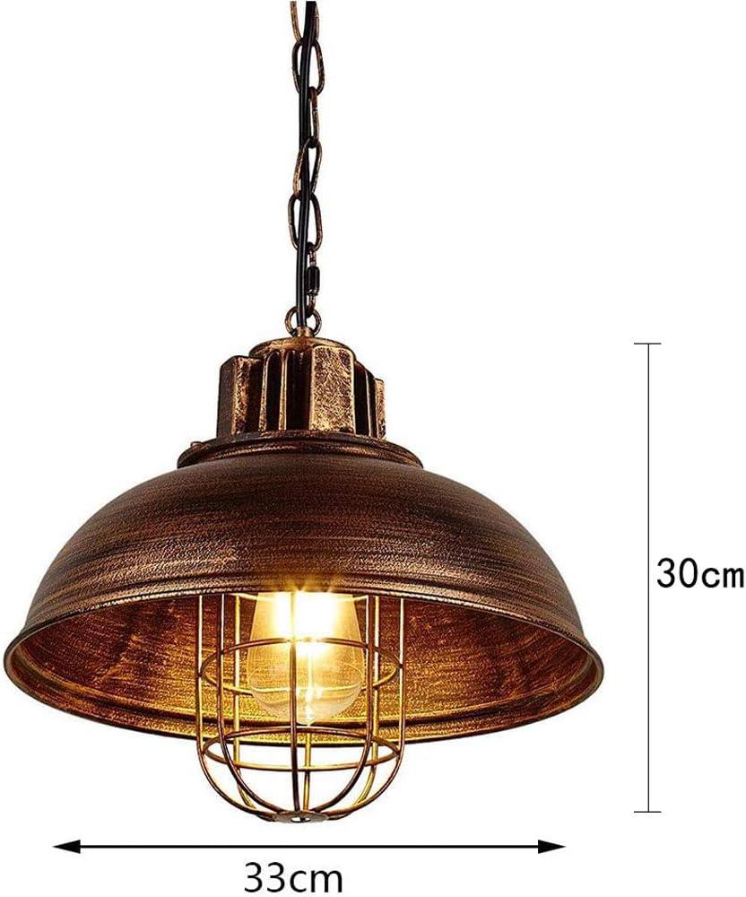 Lustre industriel en m/étal vintage r/étro suspension lumineuse large /éclairage de plafond r/églable lampe suspendue 1 lumi/ère avec cha/îne couloir salle /à manger pendentifs Bar plafonnier antique