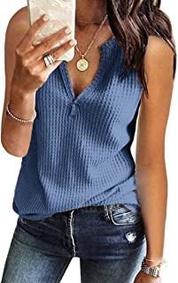 Womens Henley Shirts Shape V Neck Short Sleeve Stretch Button Down Tops SADUORHAPPY Knit Tees