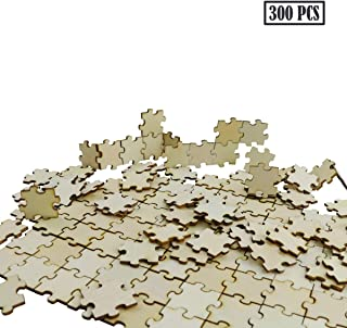 UPlama 300PCS Blank Puzzles, Freeform Blank Puzzle Pieces Blank Wooden Puzzles DIY Jigsaw Puzzles Plain Puzzle Pieces for Crafts, Arts, Card Making (1.18