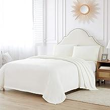 "Sponsored Ad – Bourina Flannel blanket throw White Lightweight Cozy Plush Microfiber fleece Blanket,Throw90""90"" White"