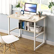Computer Desk Office Table, Stable Metal Frame Wood Surface, Wood Work-Station Study Home Office Furniture,A,80cm