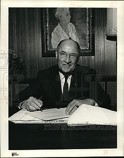 Historic Images - 1964 Press Photo President Houston-Harris County Tuberculosis Assn Aubrey Calvin