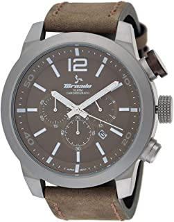 Tornado Men's Brown Dial Leather Band Watch
