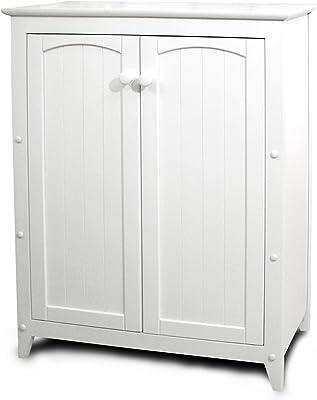 shilpi handicrafts sheesham wood standard side board cabinet in antique white color for living room kitchen & dining room
