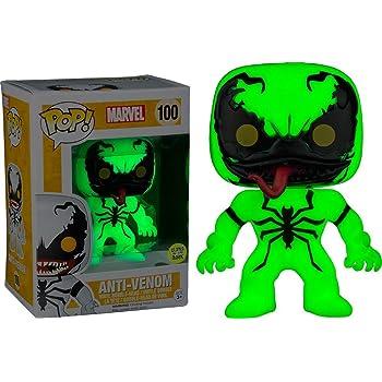 Funko 024954 Pop Marvel: Anti-Venom Glow In The Dark 100 Bobble-Head Figure