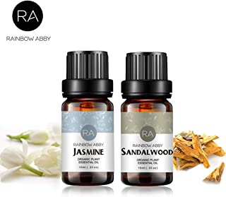 Jasmine Sandalwood Essential Oil Set Now Aromatherapy 100% Pure Therapeutic Grade Oils for Diffuser- 2 x 10ml