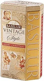 """Tea Vintage Style """"Merry Christmas"""" Tin, Ceylon Black (Basilur), 100g"""