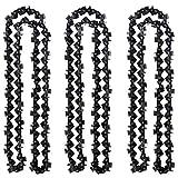 GT Garden Lot de 3 chaînes 72 maillons pour tronçonneuse