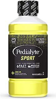Pedialyte Sport Electrolyte Drink, Lime 33.8 Fl Oz (Pack of 4)
