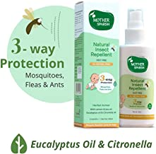 Mother Sparsh Natural Insect Repellent for Babies, Herbal Armor, 100% Protection from Mosquitoes, Fleas and Ants (100ml)