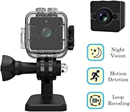Cainda Original sq12 Mini Waterproof Camera Full HD 1080P with Night Vision and Motion Detection, Portable Video Sports DVR Camcorder Car Recorder, Small Surveillance Cam, Mini Security Camera