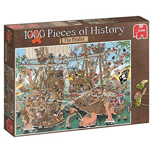 Jumbo 19204 Puzzle Die Piraten, 1000 Teile, Multi