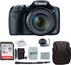 Canon Powershot SX530 Digital Camera (Black) with 16GB Card + Accessory Bundle